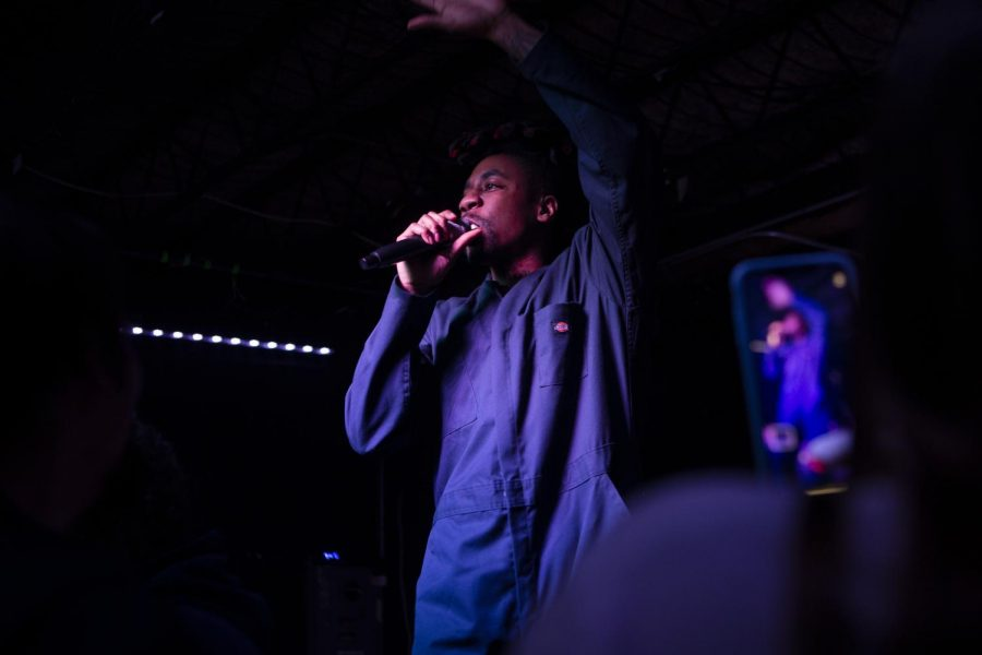 Dax, a hip hop artist, from Canada performs at Gabe's on Tuesday, November 12, 2019. Dax stopped into Iowa City on his it's Different Now tour. (Raquele Decker/The Daily Iowan)