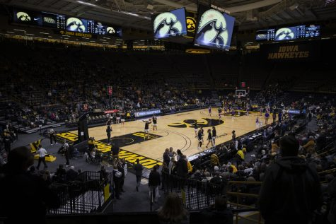 Carver Hawkeye Arena is seen during a Women's basketball game between Iowa and North Alabama on Thursday, Nov. 14, 2019. The Hawkeyes defeated the Lions, 86-81.