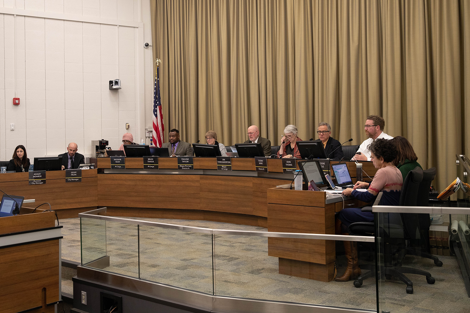 Iowa City city councilors meet at City Hall on Tuesday, Nov. 19, 2019. The City council heard from community members and discussed various agenda items.