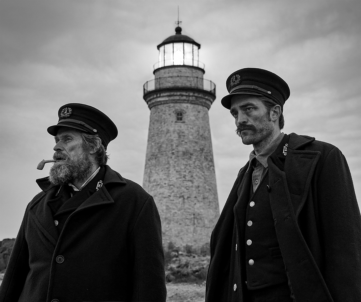 "Willem Dafoe and Robert Pattinson in ""The Lighthouse."" (Eric Chakeen/A24/TNS)"
