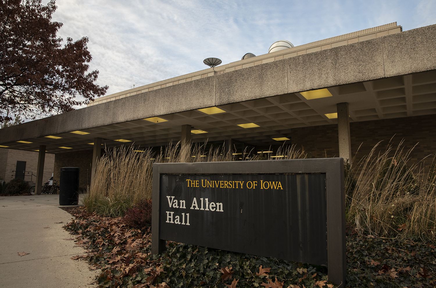 Van Allen Hall is seen on Monday, November 18, 2019. Van Allen is the home of the physics and astronomy department.