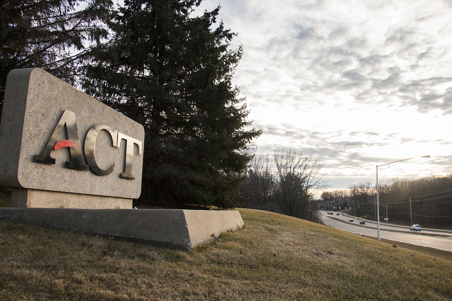 The ACT sign is seen outside of the ACT Headquarters on Monday, March 5, 2018. ACT offices are expected to experience upcoming lay-offs.