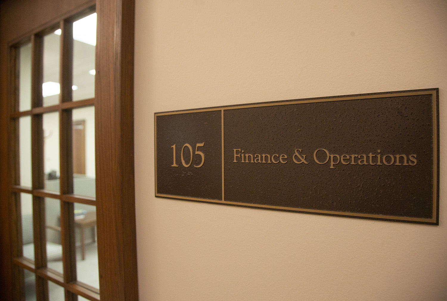The office of Finance and Operations is seen in Jessup Hall on Tuesday, November 19, 2019.