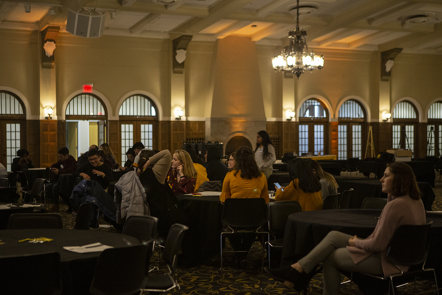 Attendees sit at the First Gen Summit in the Main Lounge of the IMU on Sunday, November 3, 2019.