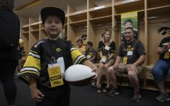 Kid Captain races into Kinnick to cheer on Hawkeyes
