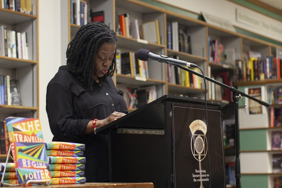 Regina Porter reads an excerpt from her book, The Travelers. Porter is a graduate from the University of Iowa, and she was a part of the Iowa Writers Workshop during her time at the university.