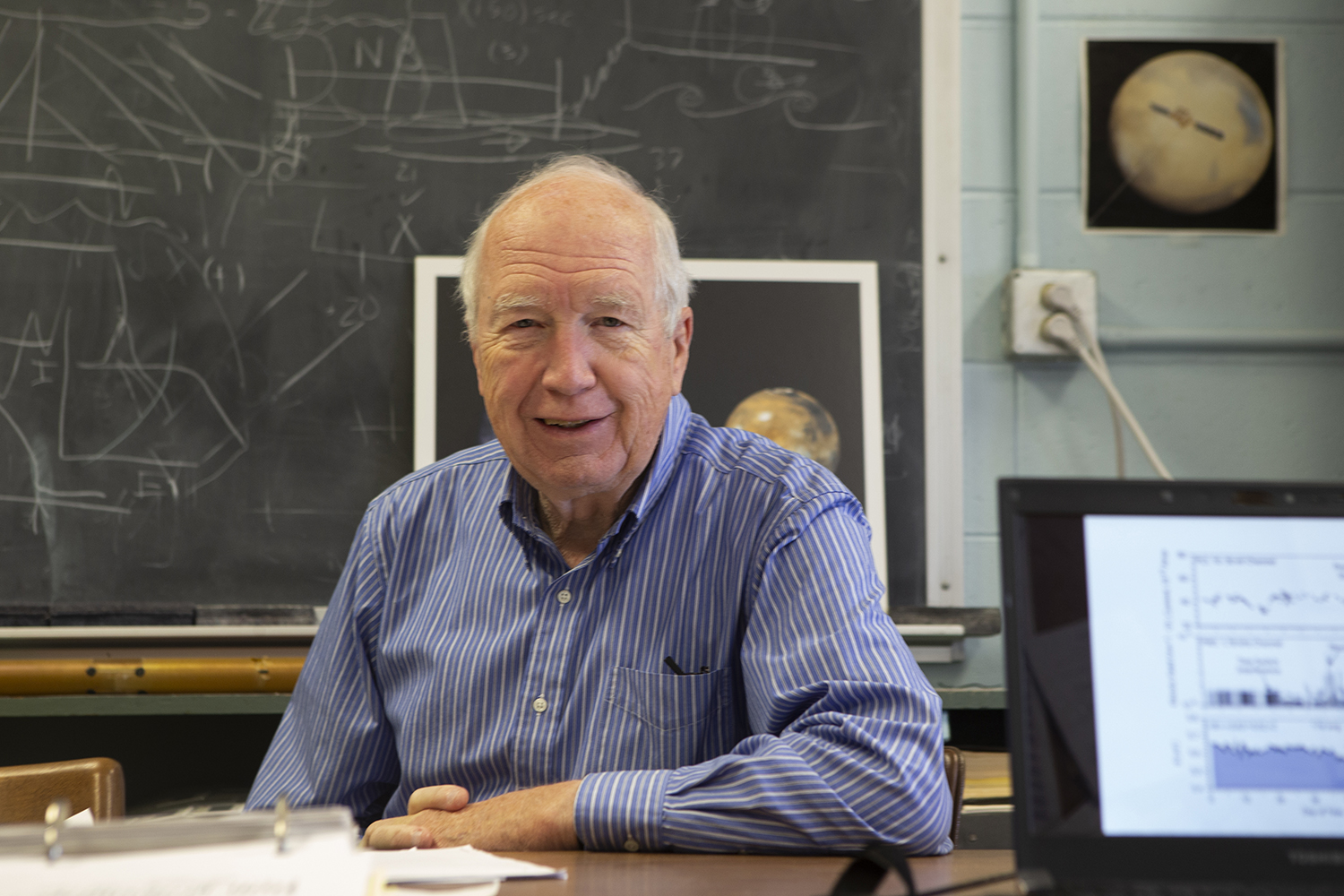 University of Iowa Scientist, Don Gurnett, is photographed in his office in Van Allen Hall on Tuesday, November 12, 2019.  Gurnett took part in creating the vital instrument for Voyager 2. (Raquele Decker/The Daily Iowan)