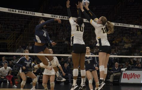 Volleyball looking for improvement in rematch against Michigan