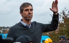 Former Texas Rep. Beto O'Rourke addresses supporters after dropping his bid for the democratic nomination during the 2019 Liberty and Justice Celebration at the Wells Fargo Arena in Des Moines on Friday, November 1, 2019.