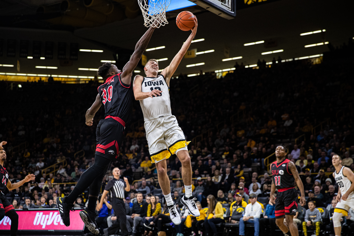 Iowa guard Joe Wieskamp goes for a layup during a men's basketball game between Iowa and Southern Illinois-Edwardsville at Carver-Hawkeye Arena on Friday, Nov. 8, 2019. Wieskamp played for 27:47 and scored 16 points in the win.
