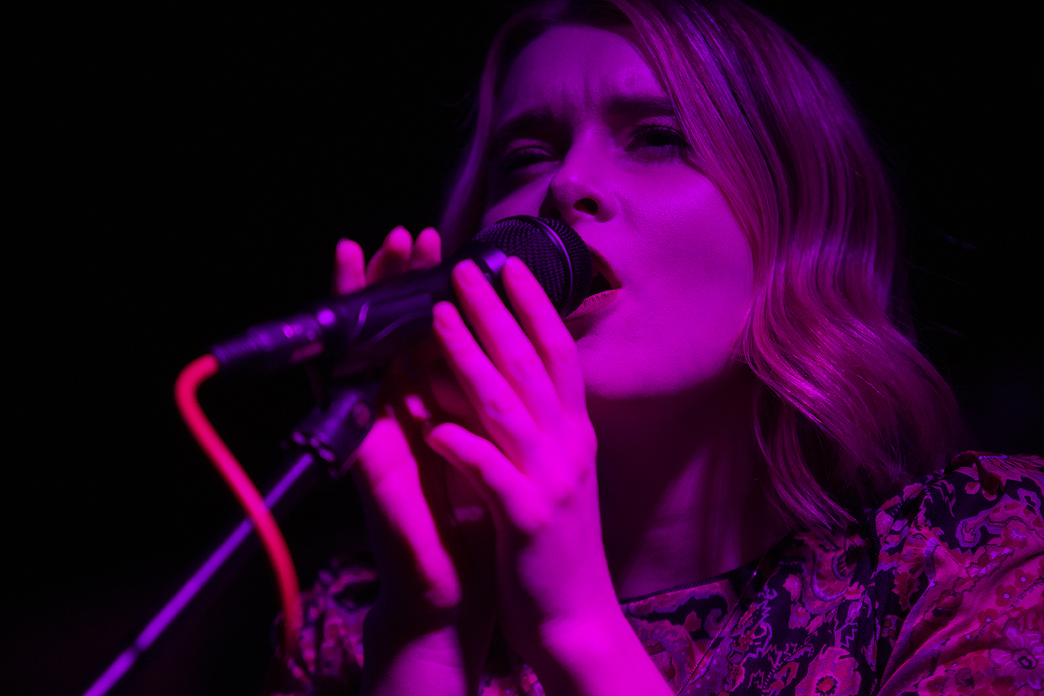 Iowa City singer/songwriter Hannah Frey performs at her album release party with Young Charles and Ivory James at Trumpet Blossom on Thursday, Dec. 12, 2019.