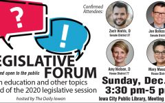Daily Iowan to host legislative forum Dec. 8 ahead of 2020 session