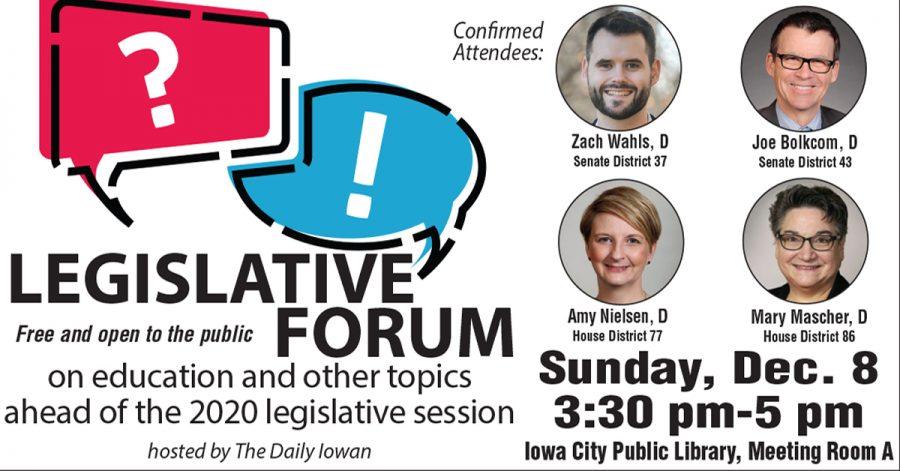 Daily+Iowan+to+host+legislative+forum+Dec.+8+ahead+of+2020+session