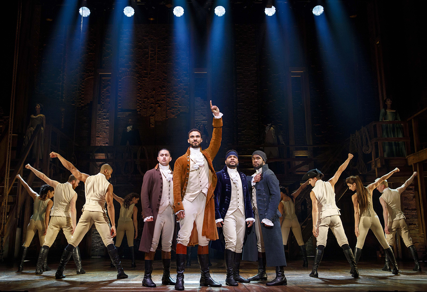 The musical Hamilton will be at the Kravis Center Jan. 28-Feb. 16. rr[Photo by Joan Marcus]