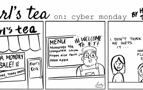 Cartoon: Earl's Tea: Cyber Monday