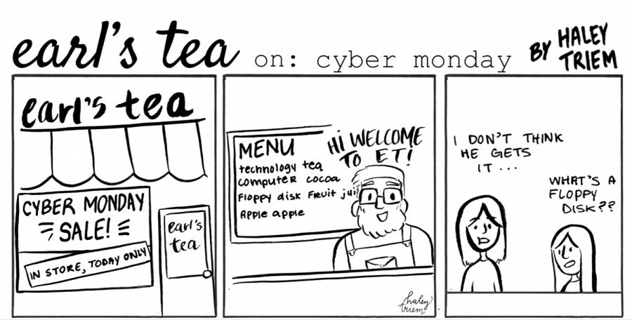 Cartoon: Earl's Tea: Cyber Monday
