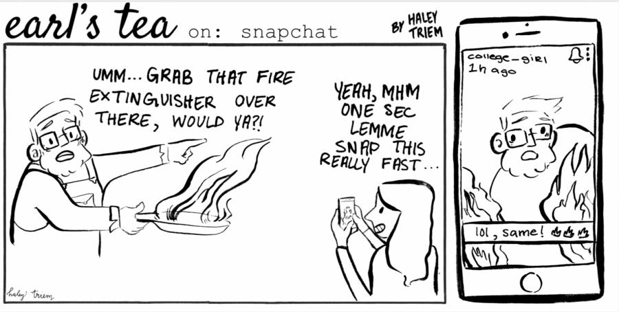 Cartoon: Earl's Tea on Snapchat