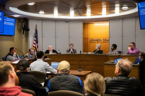 Johnson County Board of Supervisors vote on the second reading of the Unified Development Ordinance at the Johnson County Treasurer office on Thursday December 12, 2019.