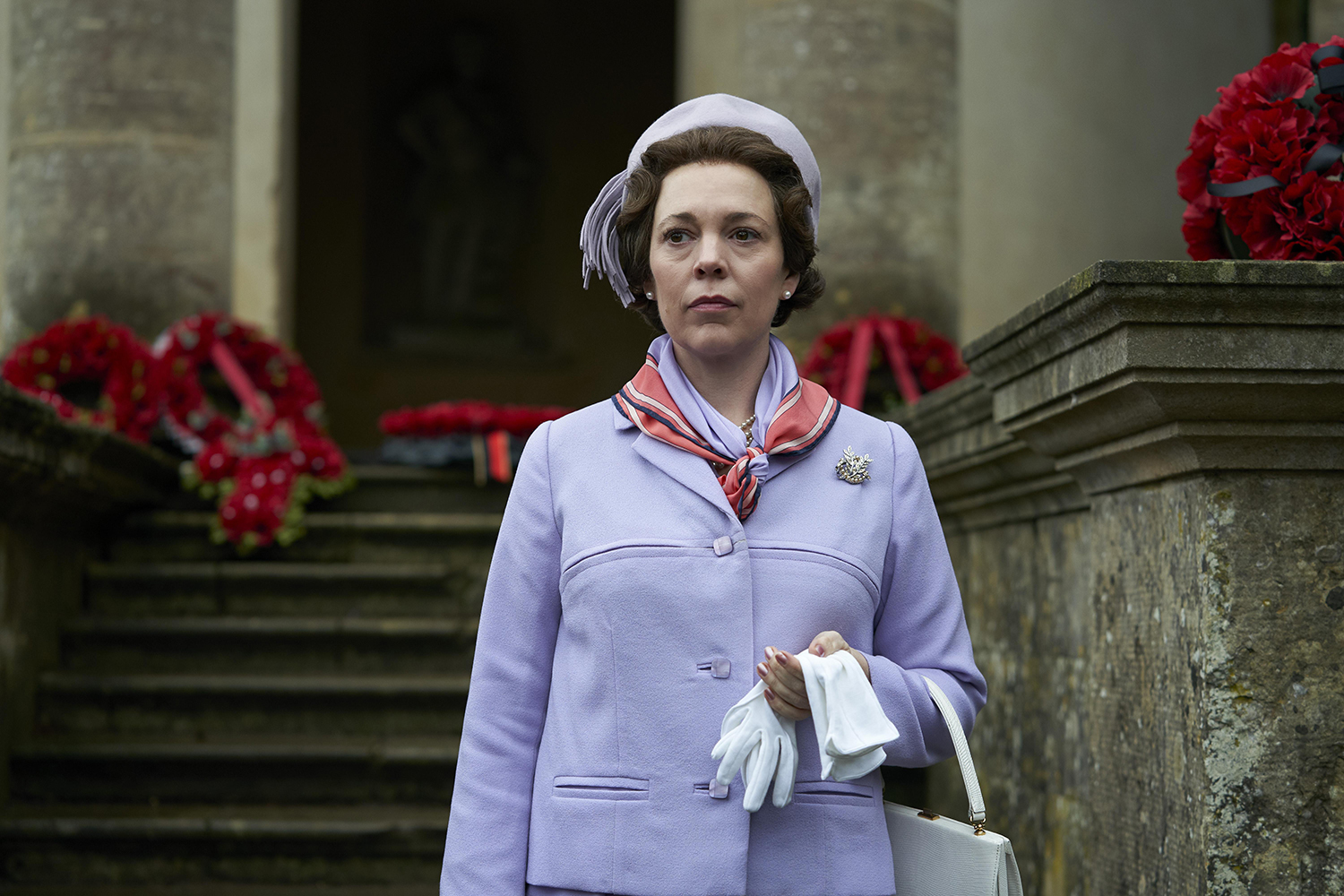 Olivia Colman takes over as Queen Elizabeth II for the third season of The Crown. [Des Willie/Netflix]
