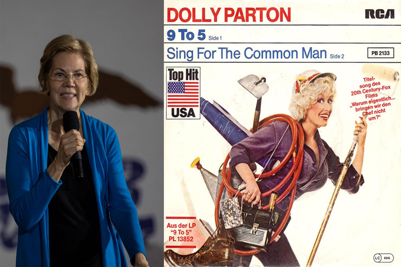 """Elizabeth Warren, Senator from Massachusetts: """"Nine to Five"""" by Dolly Parton"""