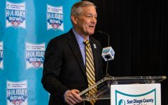 Iowa head coach Kirk Ferentz speaks during the 2019 SDCCU Holiday Bowl Coaches Press Conference in the Grand Hyatt Hotel in San Diego on Thursday, Dec. 26, 2019.