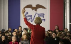Sen. Elizabeth Warren, D-Mass., speaks to an audience at NewBo Market in Cedar Rapids on Sunday, January 26, 2020. Warren encouraged attendees to support her nomination at the upcoming Iowa caucuses.