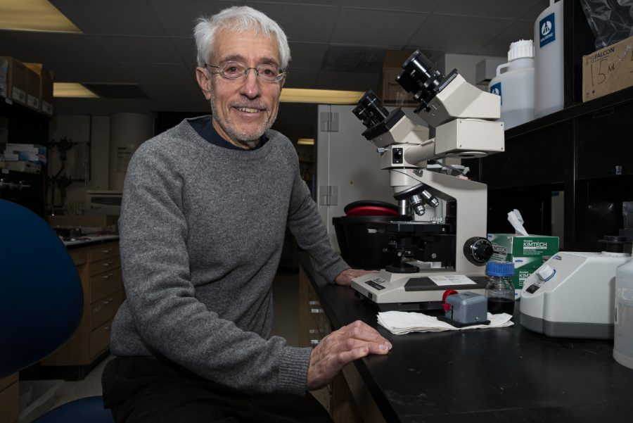 University of Iowa researcher, Stanley Perlman poses for a portrait in the Bowen Science Building on Tuesday, January 28th, 2020. Perlman along with staff at University of Iowa Hospitals & Clinics have implemented precautions following reports that a new coronavirus has been found in the United States.