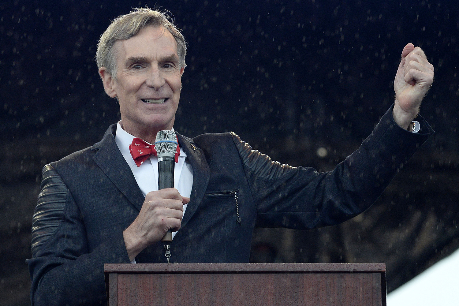 Thousands of scientists and their supporters, including Bill Nye the Science Guy, join the March for Science on April 22, 2017 in Washington, D.C. Nye is suing Walt Disney Co., claiming the company improperly kept millions of dollars in profits related to his popular TV series.