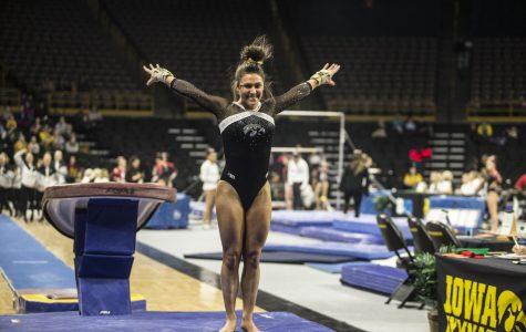 Women's gymnastics takes on Michigan State on Alumni Night