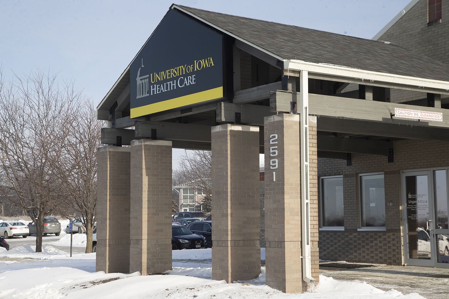 The University of Iowa Health Care urgent care Coralville location is seen on Tuesday, Jan. 21, 2020. The building is located at 2591 Holiday Road.