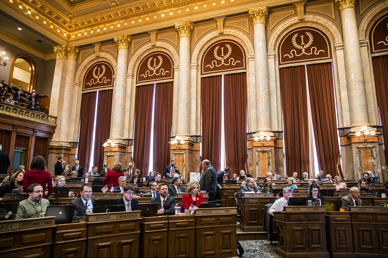 The Iowa House convenes at the Iowa State Capitol on Monday, Jan. 13, 2020. Leaders in the Iowa House of Representatives gave opening remarks to preview their priorities for the 2020 session.