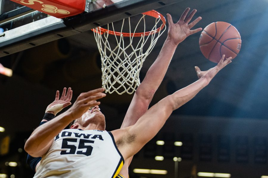 Iowa+forward+Luka+Garza+looks+for+the+basket+during+a+men%27s+basketball+game+between+Iowa+and+Michigan+at+Carver-Hawkeye+Arena+on+Friday%2C+Jan.+17%2C+2020.