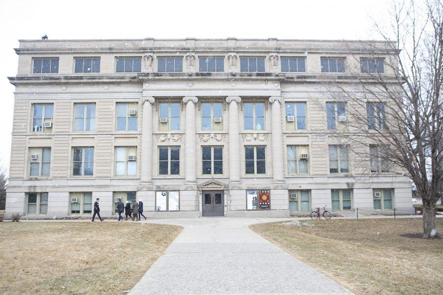 Macbride Hall is seen on Wednesday, Feb. 19, 2020.