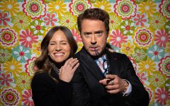 """UNIVERSAL CITY, CA --JANUARY 08, 2020—Robert Downey, Jr. and wife Susan are photographed during a day of promotion for their new film, """"Dr. Doolittle,"""" which he stars in and she produced, on a soundstage, on the Universal Studios backlot in Universal City, CA,Jan 08, 2020. This is Downey's first film roll post-Avengers."""