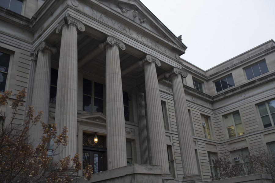 Outside MacBride Hall, one of the main sights of the Archive Crawl to be hosted Saturday Feb 24, 2018. The UI Main Library, The Natural History Museum in Macbride, the State Historical Society of Iowa and others will be celebrating local history through a day of tours, demonstrations, and lectures.