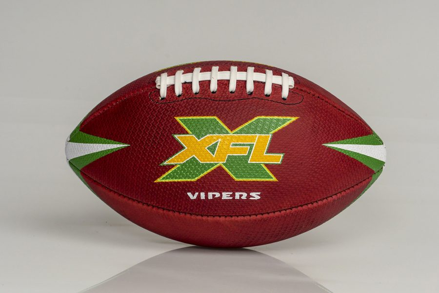 The+XFL+official+game+ball+is+seen+Sunday%2C+Nov.+24%2C+2019+in+St.+Petersburg%2C+Fla.