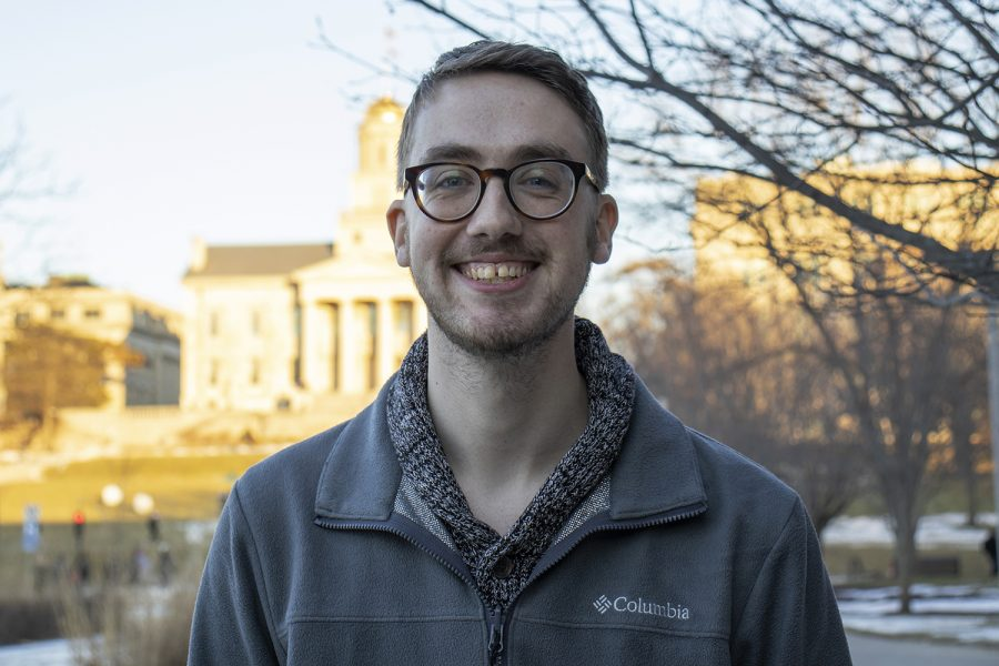 Hunter Stascak, an intern at the Office of Sustainability and the Environment, poses for a picture on Thursday, Feb. 6, 2020. Many of the projects that interns work on are focused on improving on-campus sustainability.