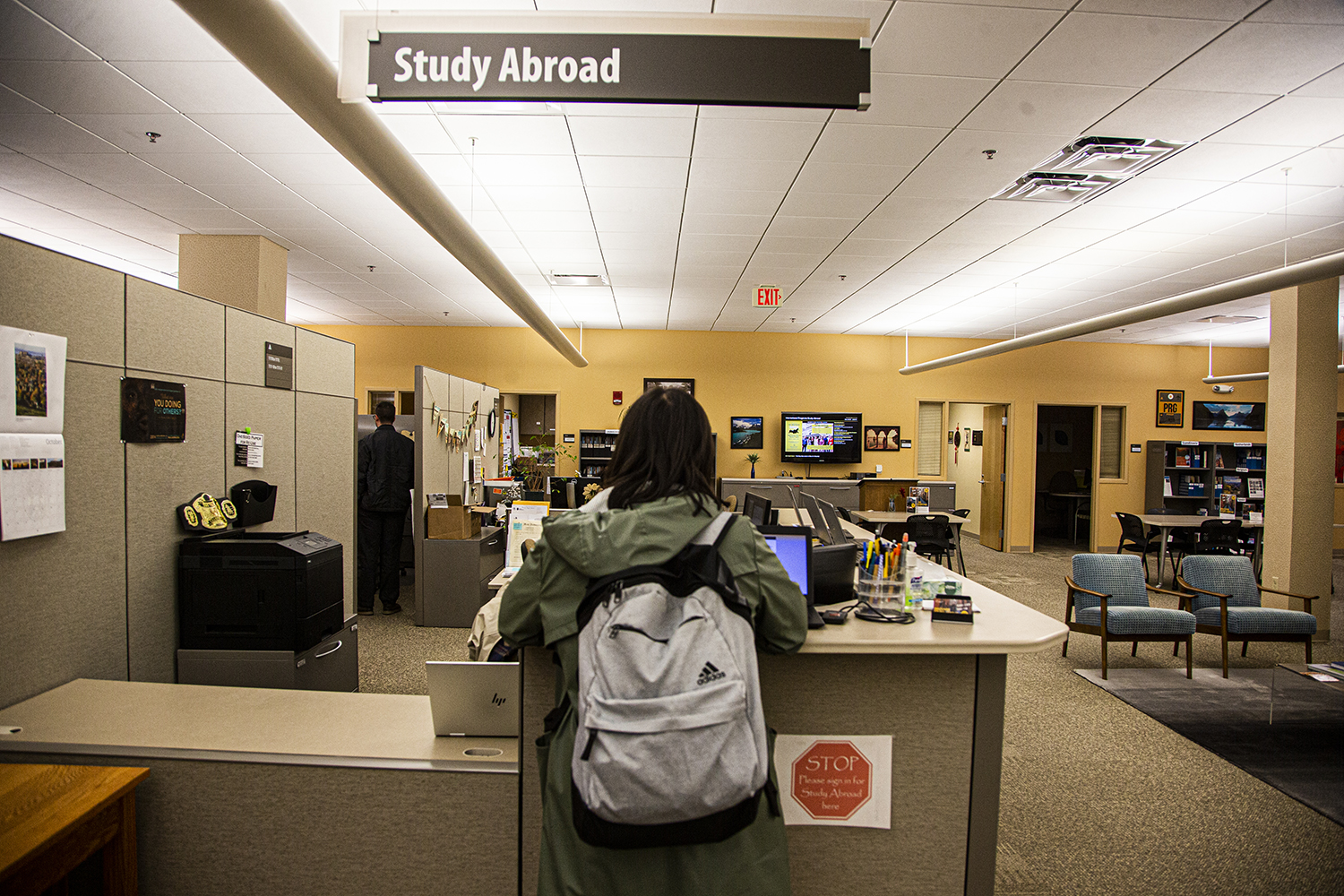 The University of Iowa Study abroad office is seen on Monday, October 21st, 2019. (Tate Hildyard/The Daily Iowan)