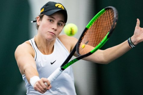 Photos: Iowa women's tennis vs. Colorado (2/16/2020)