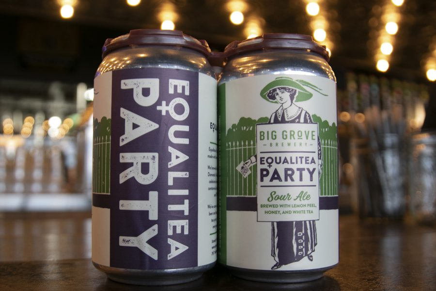 A new flavor and label to celebrate the 100th anniversary Womens Suffrage and 40th anniversary of Domestic Violence Intervention Program as seen at Big Grove Brewery, 1225 S Gilbert St. on Thursday,March,5,2020.