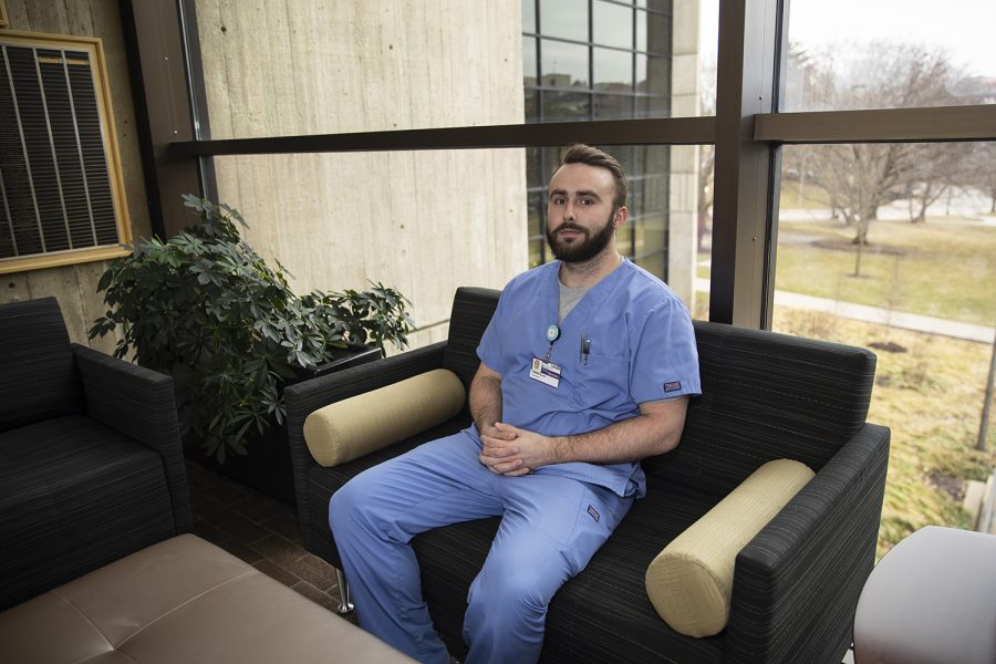 Nathan Hubert poses for a portrait on Wednesday, March 11, 2020 in the Pappajohn Biomedical Research Institute. Hubert is a fourth year dentistry student.