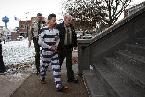 Cristhian Bahena Rivera walks into the Poweshiek County courthouse for day two of an evidence suppression hearing at the Poweshiek County Courthouse on Thursday, Nov. 14, 2019 in Montezuma. Bahena Rivera confessed to killing Molly Tibbetts last year but his attorneys filed a motion to suppress the confession because he was not properly read his Miranda warning during initial interviews with police.