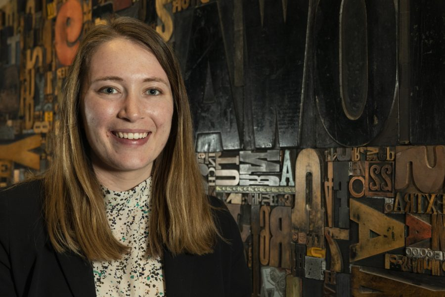 Daily Iowan Managing Editor Sarah Watson poses for a portrait inside Adler Journalism Building on March 3, 2020. Watson will serve as editor in chief in fall of 2020.