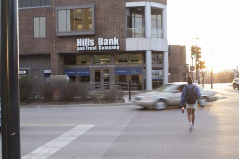 Hills Bank and Trust Company is seen on April 17, 2019.
