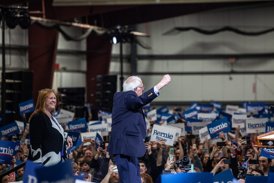 Senator+Bernie+Sanders%2C+I-Vt.+walks+on+stage+during+a+rally+in+Essex+Junction%2C+Vermont+on+Tuesday%2C+March+3%2C+2020.