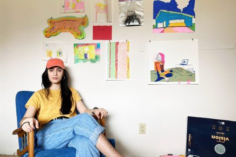 Student Spotlight: UI artist creates music and paintings from themes of liberation of the self