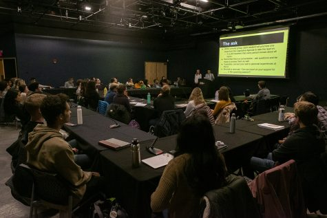 USG meets in the Blackbox Theater in the Iowa Memorial Union on Tuesday, March 3rd, 2020.