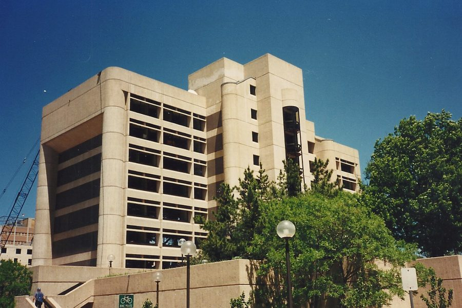 The south side of the Alfred P. Murrah Federal Building remains intact following a bombing that destroyed one third of the building in a domestic terrorist attack. At 9:02 a.m. on April 19, 1995 a bomb detonated at the building's north entrance, killing 168 people. In addition to those who died, approximately 800 were injured.