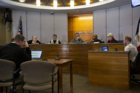 The Johnson County Board of Supervisors meets on Tuesday, Jan. 21, 2020. The Supervisors discussed budget items for the year.