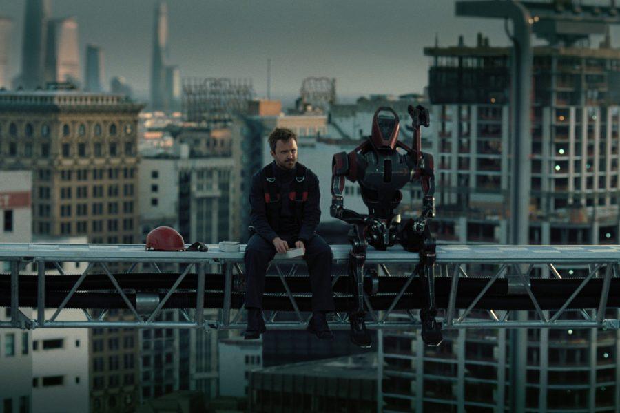 Aaron Paul in Westworld on HBO.